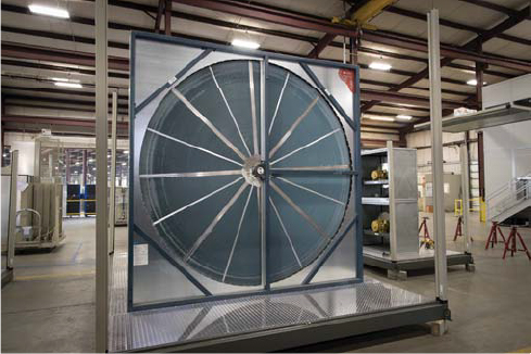 Photo of a Nortek enthalpy wheel.